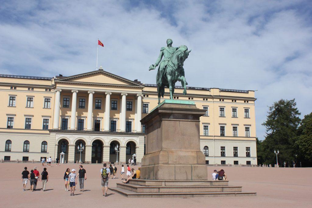 Het Koninklijk Paleis in Oslo