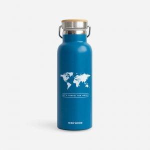 Miss Wood Drinkfles blauw