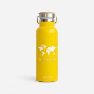 Miss Woody drinkfles geel