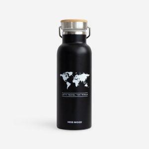 Woody fles zwart